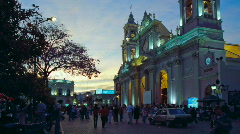 City Center of Salta Stock Footage