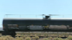 Train Passes by in Desert Stock Footage