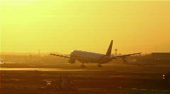 Airplane landing Stock Footage