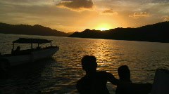 Komodo Sunset 1 - stock footage