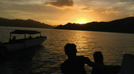 Stock Video Footage of Komodo Sunset 1