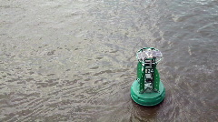 Solar powered buoy Stock Footage