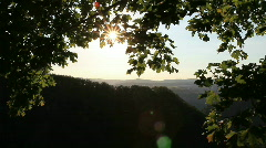 View over the rheingau hill Stock Footage