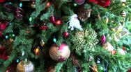 Christmas Tree closeup slow pan Stock Footage