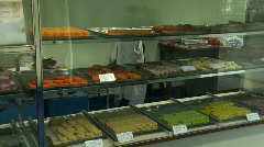 Indian sweets tray Stock Footage