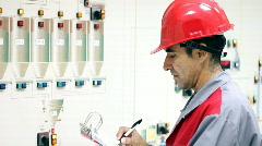 Control Room - Engineer Stock Footage
