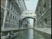 Venice Bridge of Sighs Canal Trip TBR Stock Footage