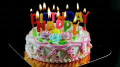 Birthday cake  Stock Footage