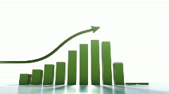 A common chart showing positive trend. Stock Footage