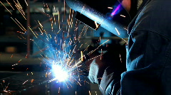 Welder at work - stock footage