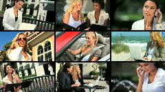 Montaasi Businesswomen & Technology Arkistovideo