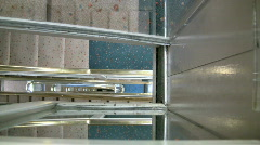 Looking Down A Stairwell of a Tall Building Stock Footage