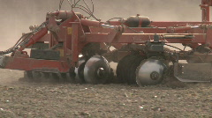 close up of a large cultivation implement - stock footage