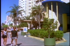 The Delano, a South Beach art deco hotel in Miami Beach, Florida. Stock Footage