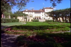 Vizcaya mansion, wide shot Stock Footage