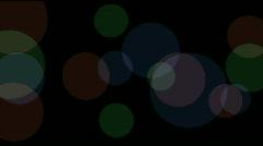 Round tangram mosaic matrix pattern,plastic card paper,fractal geometry circle. Stock Footage
