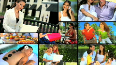 Montage of Modern Family Lifestyle  Stock Footage