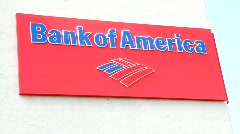 Bank of America Sign Stock Footage