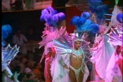 Rio de Janeiro Samba Show, very colorful costumes, beautiful people, lavish - stock footage