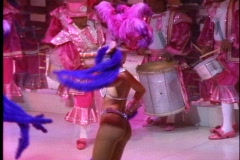 Rio de Janeiro Samba Show, very colorful costumes, beautiful people, lavish Stock Footage
