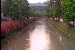 Petropolis, Brazil, canal, wide shot, tilt up Stock Footage
