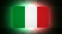 Italy 3d Flag Stock Footage
