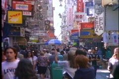 Pedestrian street, Lavelle, lots of people, Buenos Aires Stock Footage