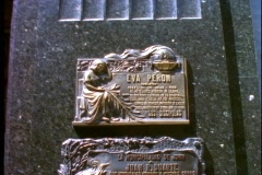 Eva Peron tomb, plaque, medium, zoom in close, Buenos Aires, Argentina Stock Footage