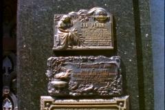 Eva Peron tomb, three plaques, Buenos Aires, Argentina Stock Footage