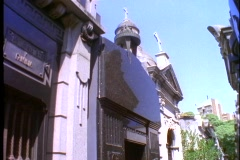 Eva Peron tomb, medium wide shot, tilt down, Buenos Aires, Argentina Stock Footage