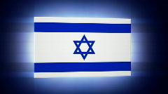 Israel 3d Flag Stock Footage