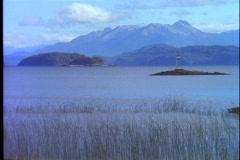 Mountain lake in Andes, Lake Nahuel Huapí Stock Footage