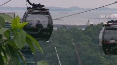 Singapore landmark cable car Stock Footage