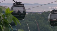 Singapore landmark cable car Stock Footage