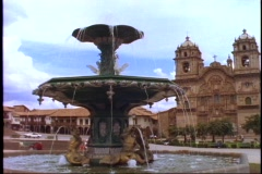 The cathedral in Cusco, Peru. Stock Footage