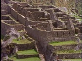 Stock Video Footage of Machu Picchu, Peru, The Andes, close up detail, zoom out medium shot