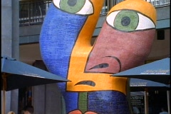Melbourne, modern sculpture, close up zoom out Stock Footage