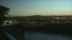 TIMELAPSE SUNSET OVER RIVER_PORTLAND Stock Footage