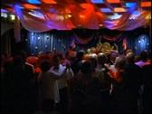 The Queen Elizabeth 2, QE2, dancing in the Queen's Room Ballroom at night Stock Footage