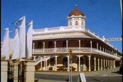 Fremantle, Victorian buildings, wide shot Stock Footage