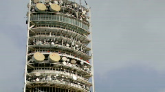 Tibidabo mountain barcelona communication tower urban Stock Footage