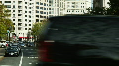 Traffic on street Stock Footage