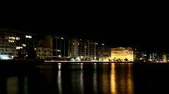 city lights - stock footage