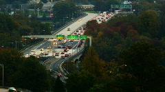 Traffic on highway Stock Footage