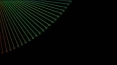 Abstract fiber optic,metal machine probe background,music rhythm.Design,pattern Stock Footage