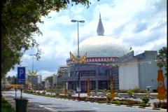 Brunei, Regalia Museum, wide shot, pan right Stock Footage