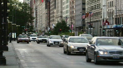 Traffic on Michigan Avenue Stock Footage