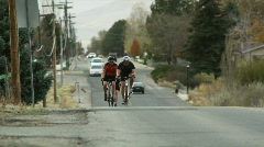 MS TS Man cycling in countryside / Highland, Utah, USA Stock Footage