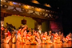 China, Xian, Chinese Cultural Show, wide shot, colorful, lots of performers Stock Footage