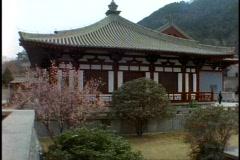 China, Xian, ancient buildings, medium shot pagoda Stock Footage